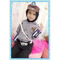 Baju Polisi lalu lintas anak perempuan celana panjang Hijab Baju Pocil - S