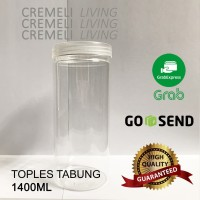 Toples Plastik Tabung Ulir 1.4 liter 1.4L 1400ml Toples Bening 1400gr
