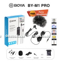 BOYA BY-M1 PRO Clip On Lavalier Microphone Condenser Smartphone,Camera