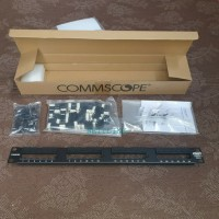 Patch panel CAT 6, 24 port AMP / commscope loaded