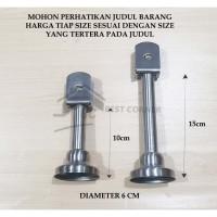 Kaki Partisi Kayu Toilet Stainless 10 CM / penyangga toilet