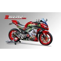 Decal Stiker Kawasaki Ninja 250 Fi Joker Merah