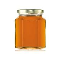 Botol HEXAGONAL 280ml/ HEXAGONAR Jar/ Botol Madu Selai Kaca CSG8