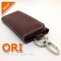 Dompet Kulit STNK Gantungan Kunci Mobil Motor Cokelat TR019