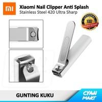 Gunting Kuku Xiaomi Nail Clipper Anti Splash Stainless Steel Original
