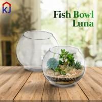 aquarium akuarium toples vas fish bowl bulat kaca W Design Luna A3 1 L