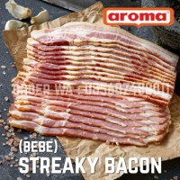 BEBE by AROMA Pork Streaky Bacon 1000gr 1kg Daging Babi Asap NON HALAL
