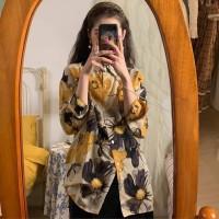 Flow Kemeja Long Sleeve Baju Atasan Wanita Import Murah Blouse Pantai