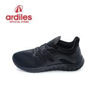 Ardiles Men Jammar Sepatu Running - Hitam Hitam