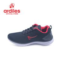 Ardiles Men Nasgro Sepatu Sneakers - Hitam Merah