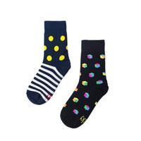 [Bundle] Socky Big Polka/Stripes & Polkabox - 2 Pasang Kaos Kaki