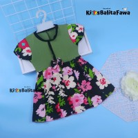 Dress Pita uk 2-3 Tahun / Dres Lengan Anak Perempuan Harian Baju Gaun