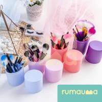 RUMAUMA Brush Makeup ISI 12 PCS Kuas Set Lembut Dengan Tempat Holder