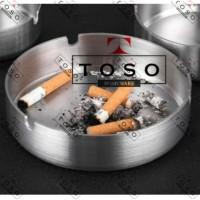 Asbak Rokok Stainless Bulat Tebal AB 10cm Cigarette Ashtray Round