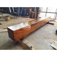Bangku balok kayu utuh kotak panjang 3 meter trembesi bukan jati 300cm