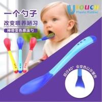 Sendok Makan Bayi Baby safety spoon silikon heat sensor panas reliable
