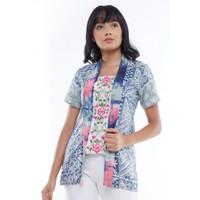 Baju Batik Kerja Wanita Madame Rabbit Kutu Baru Sage Batik Cap Bordir