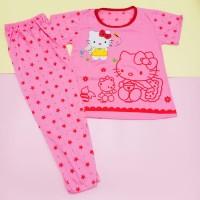 Baju tidur anak perempuan Hello Kitty CP Jumbo 7-12 tahun