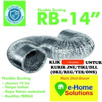 Alumunium flexible ducting 14 inch Metalize