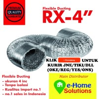 "Alumunium selang Exhaust 4"" Flexible duct hose ducting"