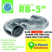 Alumunium flexible ducting 5 inch 5 meter
