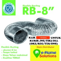 Alumunium Flexible ducting metalize 8 inch