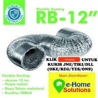 Alumunium Flexible Metalize ducting 12 inch