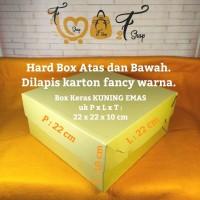 Box Kotak Kue Hampers Gift Box Kuning Emas