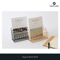 Penyangga / tempat Buku Minimalis - Square Shelf Book