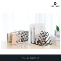 Sekat / Pembatas Buku Minimalis - Triangle Book Shelf