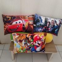 Bantal Karekter Jumbo printing Halus Mario,Cars, Superhero