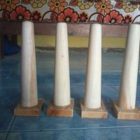 kaki meja bubut kayu mahoni