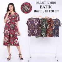 Baju Tidur Jumbo / Setelan Kulot Jumbo / Baju Batik Jumbo