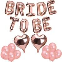 Bride To Be Rose Gold Set Dekorasi/Balon Huruf Rose Gold