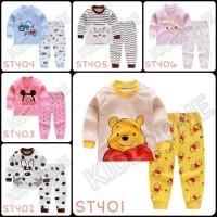 Setelan Baju Celana Tidur Anak Piyama Anak Import Murah Tebal Adem