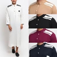 KAYSER CORDOVA Jubah Gamis Pakaian Gamis Pria Al Isra Busana Muslim - MAROON, M