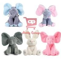 Boneka Gajah Peek A Boo Kelinci Mainan Bayi peek ka boo Rabbit