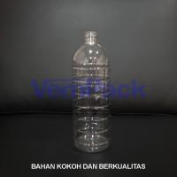 Botol Plastik Bulat 1000 ml Air Mineral PET long neck