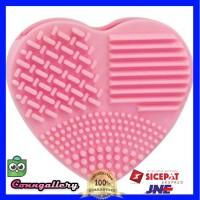 Brush Egg Pembersih Kuas Make Up Model Hati Brush Makeup Cleaner - Pink
