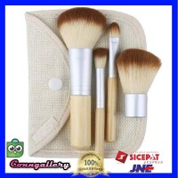 Kuas Make Up Bambu 4 Set - Brush Makeup Bamboo