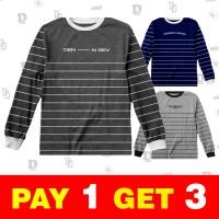 Baju Lengan Panjang Pria Keren - Kaos Trend Streetwear Terbaru Laki - M