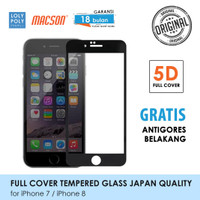 LOLYPOLY Full Cover Tempered Glass iPhone 7 / 8 Japan Quality - iPhone 7, Hitam
