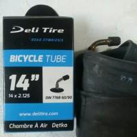 ban dalam sepeda listrik selis uk 14x2.125 pentil benkok (L) DELI TIRE