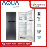 Aqua Japan AQR 370 R Kulkas 2 Pintu - Silver