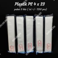 Plastik PE 4x23 (5 bks), Plastik Es Bambo, Plastik Sambel