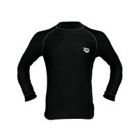 Arena Men Swim T-Shirt BK AWW-E052 Baju Renang Pria Dewasa Hitam