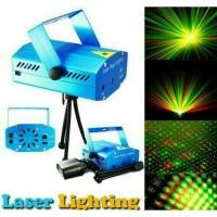 Lampu Laser Sensor Music Mini Laser Stage Lighting Lampu Disco Lampu H