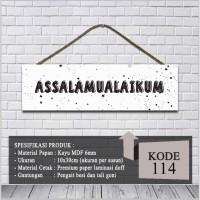 Walldecor Hiasan Dinding Rumah Kamar Shabby Assalamualaikum 114