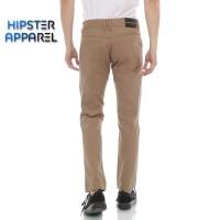 HIPSTER celana chino panjang pria model stardar basic warna mocca