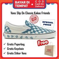 Vans Slip On Kakao Friends Ice Blue Original Sepatu Vans Pria Wanita